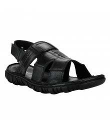 Cefiro Black Sandal for Men - VSP0014